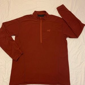 ARC'TERYX Waffle Knit 1/2 Zip Pullover Sweater XL